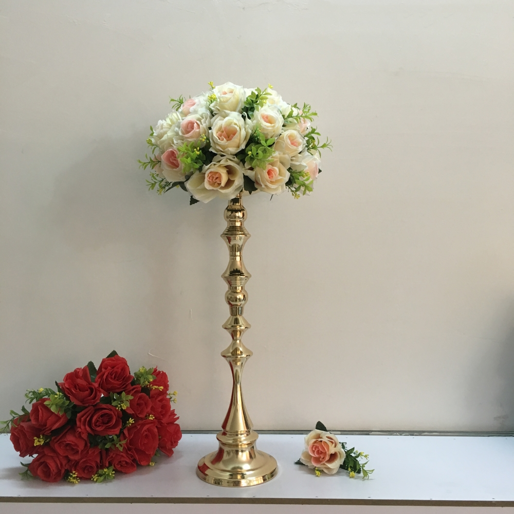 Cm tall gold candle holder stand wedding table