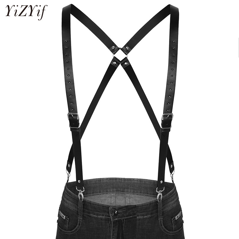 Fashion Men Suspenders Harness Belt 4 Clips Suspender Adjustable Elastic X Back Pants Braces Double Shoulder Straps Braces