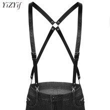 bd09b52665f Fashion Men Suspenders Harness Belt 4 Clips Suspender Adjustable Elastic X  Back Pants Braces Double shoulder