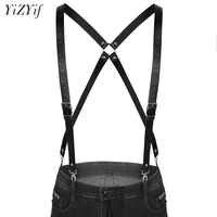 Fashion Men Suspenders Harness Belt 4 Clips Suspender Adjustable Elastic X Back Pants Braces Double shoulder Straps Braces