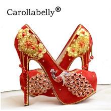 5247f795c Novas Mulheres Bombear Glitter Sapatos de Casamento Strass Ouro, mulheres  de Salto Alto Bombas de Casamento Bling Do Diamante