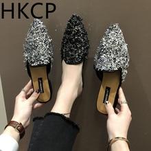 HKCP Fashion Lazy Half-Slipper Female New Flat Bottom Slippers for Women Wearing Fashionable Miller C172