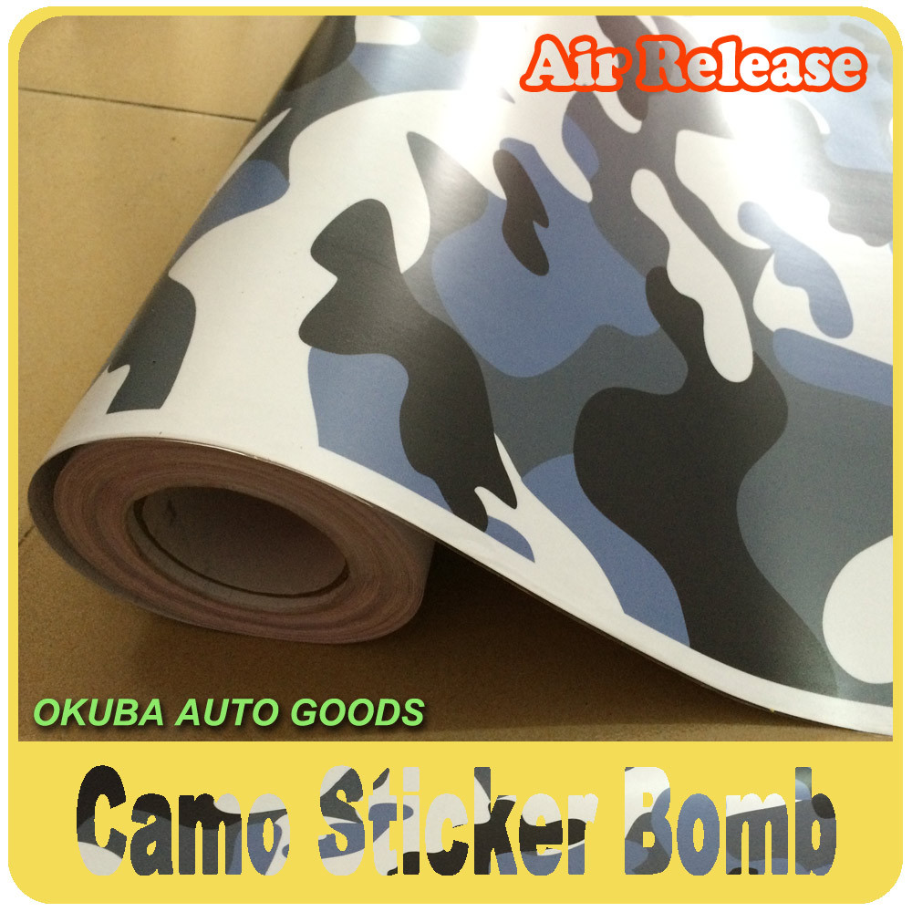 Fedex Free Shipping 1 52 30m Camouflage Vinyl Car Wrap Film Car Sticker Bomb Design With