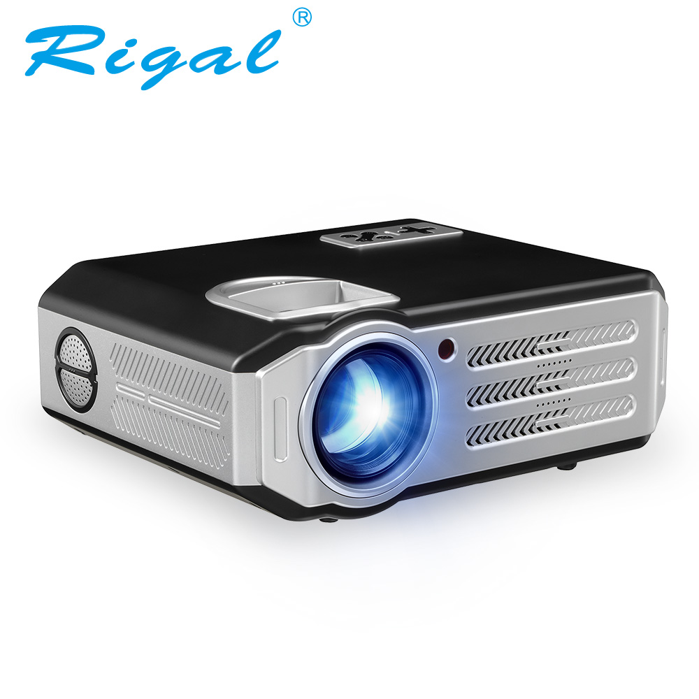 Rigal Newest RD HD Projector Lumens P Proyector For Home Theater Black