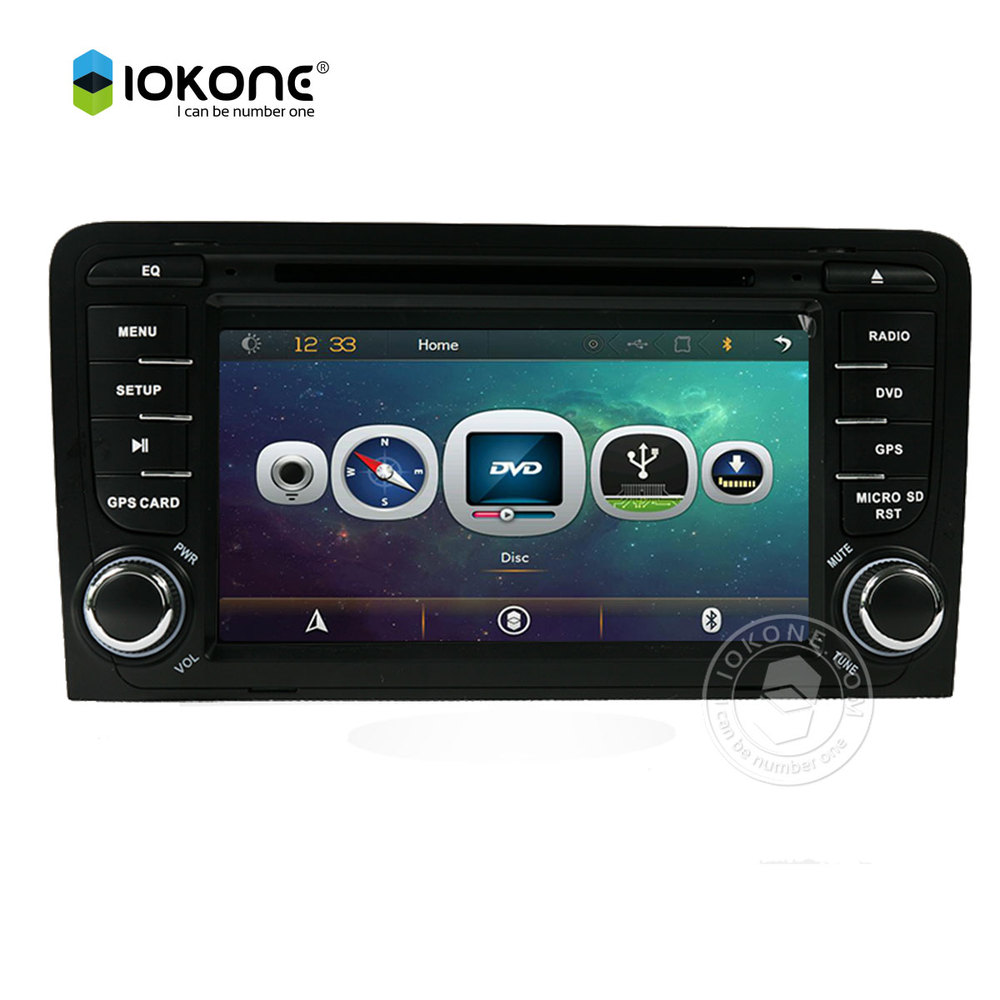 Car DVD Video Player autoradio for AUDI A3 2013 2012 2011 2010 2009 2008 2007 with IOKONE rotating user interface with CANBUS car rear trunk security shield shade cargo cover for nissan qashqai 2008 2009 2010 2011 2012 2013 black beige