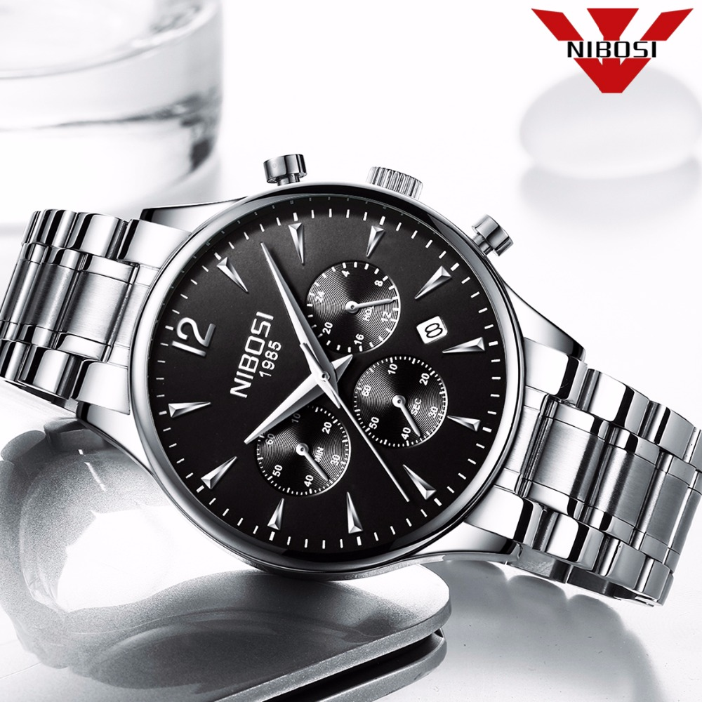 NIBOSI Men Watches Men's Fashion Casual Dress Watch Military Quartz Wristwatches Saat Luxury Famous Top Brand Relogio Masculino classic simple star women watch men top famous luxury brand quartz watch leather student watches for loves relogio feminino
