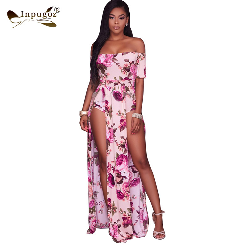 f31a95913ef77 New Lovely Pink Floral Print Women Summer Maxi Dress Hot Elegant Women Long  Dress-in Dresses from Women s Clothing   Accessories on Aliexpress.com