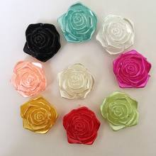 lovely ABS 18mm 20Pcs/Lot Flatback Resin Flower &Rose Rhinestone Cabochon Gems,Flat Back Resin Rhinestone For DIY Decoration(China)