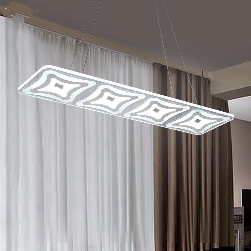 Rectangle LED Pendant light Modern Kitchen Acrylic