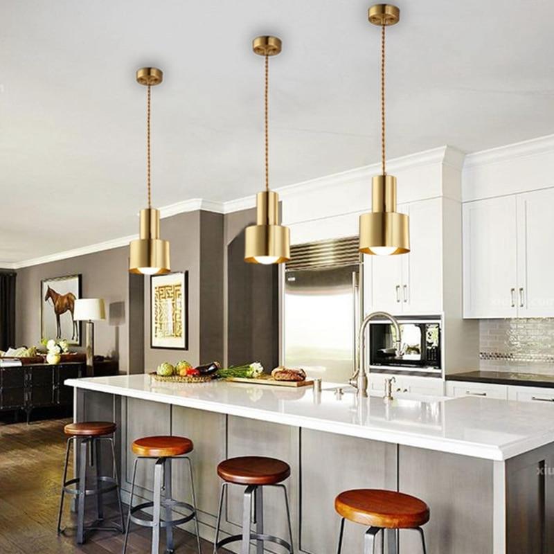 lukloy copper pendant light dining room kitchen island led brass hanging lamp kitchen lighting fixture loft bedside hanglamp