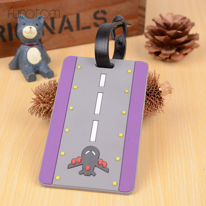 Cartoon Plain Luggage Tag Travel Accessories Suitcase ID Address Holder Baggage Boarding Tag Portable Label