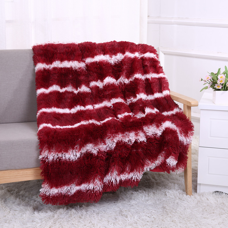 New Plush Blanket Printing Double Velvet Warm Sofa Autumn and Winter Single