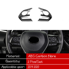 3colors ABS For Toyota Camry XV70 2017 2018 2019 Car Steering wheel Button frame Cover Trim Sticker Car styling accessories 2pcs citall 2pcs abs black headlight head lamp light brow deco cover trim sticker car styling fit for toyota camry se xse 2018 2019
