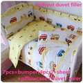 Discount! 6/7pcs baby bedding sets Bed around Duvet Cover baby Qulit Cover,120*60/120*70cm