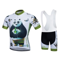 SGCIKER Funny Kungfu Panda Summer Short Sleeve Quick Dry Cycling Jersey Breathable Clothing MTB Ropa Ciclismo