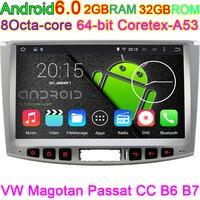 10.2 pollice Android 6.0 Car DVD Per VW Tiguan e Passat CC 2012 2013 2014 2015 HD 1024*600 con Canbus Quad Core CPU In Dash PC