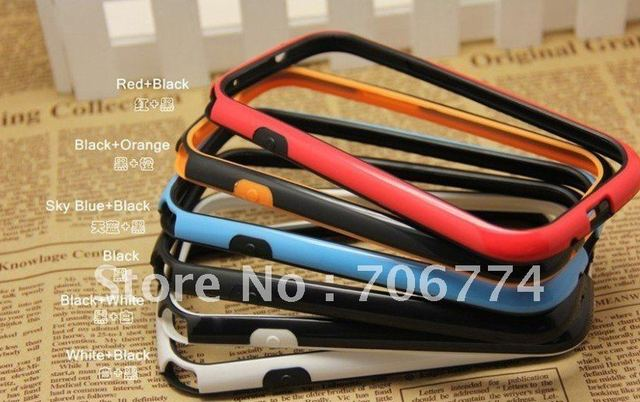 Wholesale 200pcs/lot  TPU Bumper Frame Skin For Samsung Galaxy S 3 III S3 free shipping