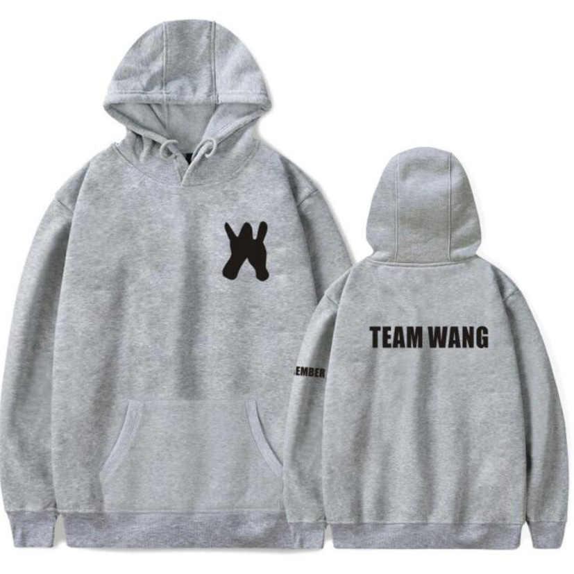 Moletom KPOP GOT7 JACKSON zespół Wang tym samym bluzy z kapturem dla par zima moda Hip Hop polarowa bluza z kapturem kobiety mężczyźni Plus rozmiar