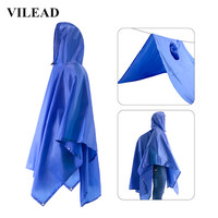 VILEAD Multi Function Adult Man Raincoat Waterproof Nylon Poncho Conjoined Rain Coat Rain Gear Outdoor Camping Hiking Rainsuit