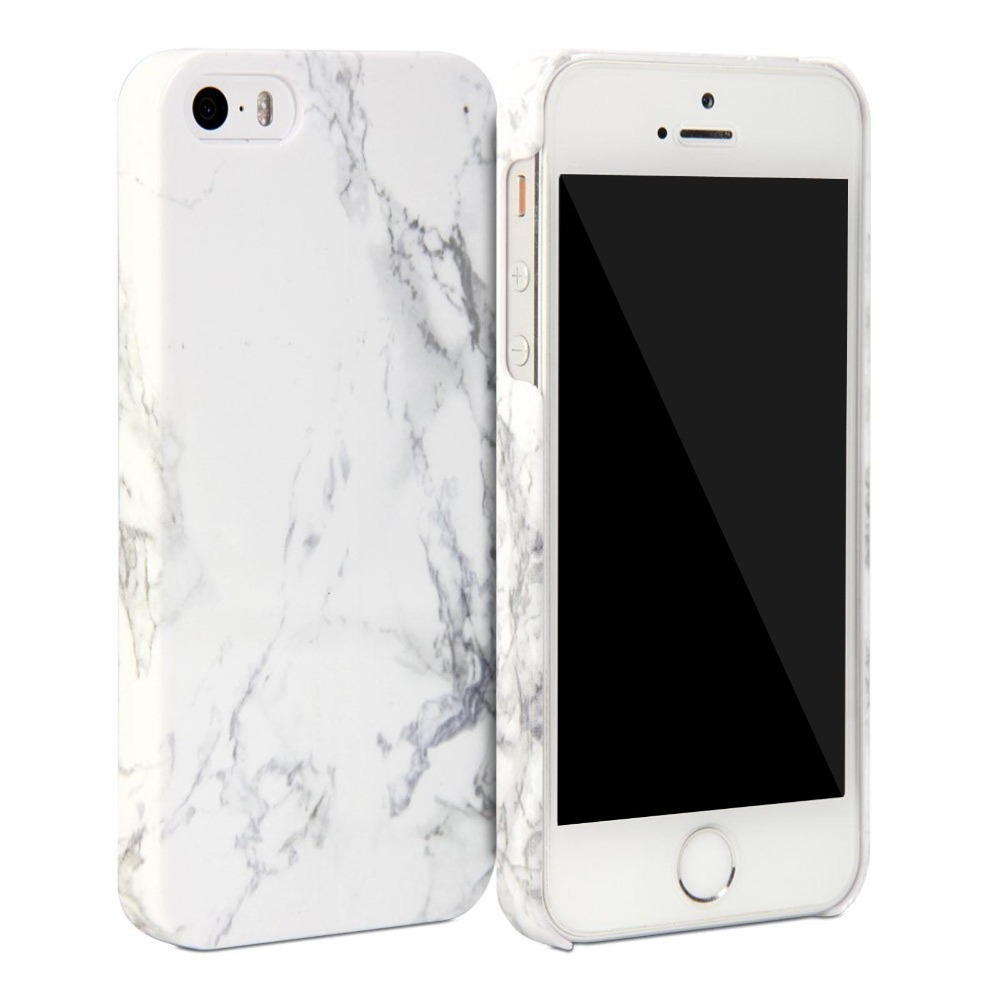 arrives 9e175 b3cd0 US $6.99 |White/Black Marble Snap Cover Glossy Hard Protective Case for  iPhone 5 5S 6 6S 4.7