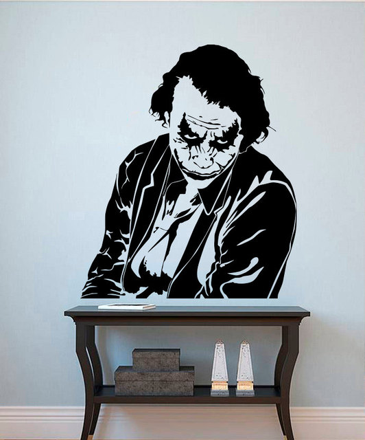 Comics Superhero Joker Cool Wall Stickers Home Decor Living Room Creative  Decor Jokers Body Art Design