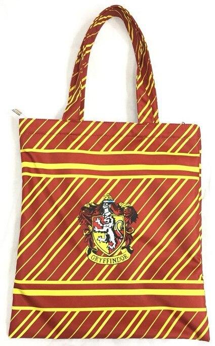FleißIg 2018 Top Heißer Verkauf Zipper Charakter Leinwand Einkaufstasche Harri Potter Gryffindor Mom Frauen Handtaschen Tote Casual Schulter Taschen Einen Einzigartigen Nationalen Stil Haben
