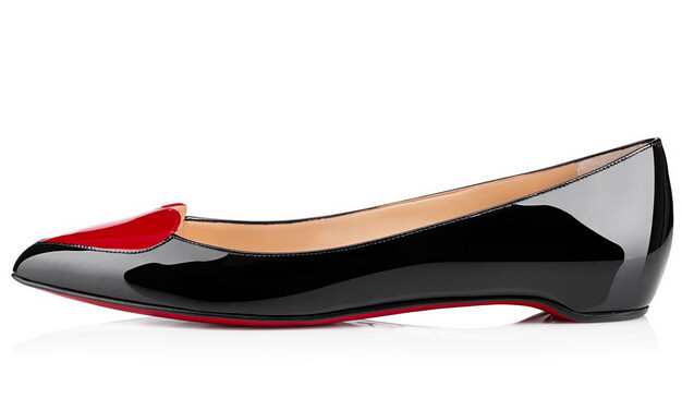red bottom flat pointed toe Corafront