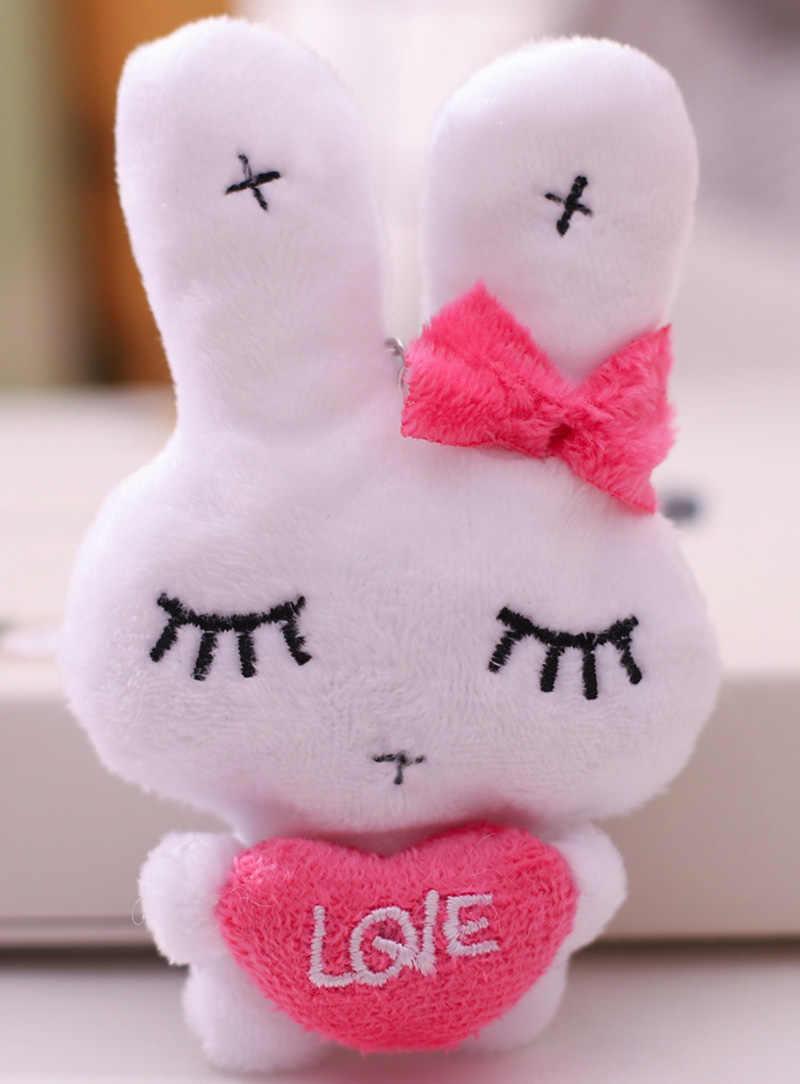Atacado 100 pcs kawaii macio fofo bonito coelho de pelúcia pingente para iphone acessórios pingente charme decoração presente frete grátis