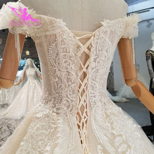 Image 4 - AIJINGYU Wedding Dres Russian Federation Lebanon Shanghai Plus Size Pakistani 2021 2020 Wedding Dresses and Gowns