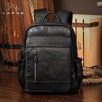 LAPOE Designer Women's Backpacks Genuine Leather Female Backpack Women School Bag Girls Large Capacity Shoulder Travel Mochila