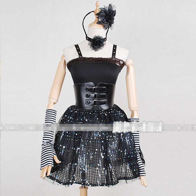 Love Live! Nikishi Maki Bibi Concert Ghothic Lolita Uniforms Cosplay Costume Free Shipping