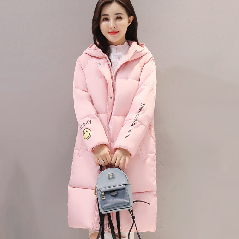 Hooded warm cotton padded womens coat parka solid color outerwear for women winter jacket long casaco feminina inverno chusaubeauty 2017 women long winter coat female warm wadded womens outerwear parka casaco feminino inverno russian style jacket