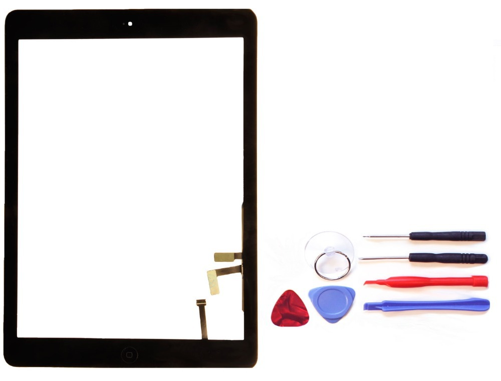 100 Original Black for Apple iPad Air 5th model A1475 A1474 touch screen digitizer home button
