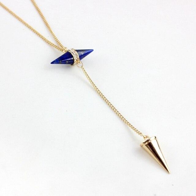 ожерелье chicvie для женщин длинные конические ожерелья и подвески фотография