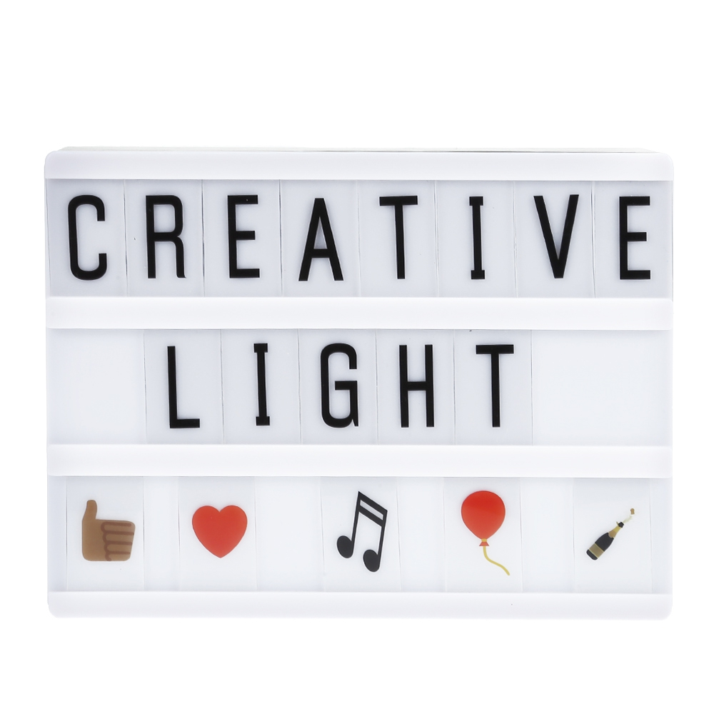 LED Night Light Box Letters Cards DIY Lamp USB Powered Cinema Lightbox Message Board For Home Decor LightingLED Night Light Box Letters Cards DIY Lamp USB Powered Cinema Lightbox Message Board For Home Decor Lighting