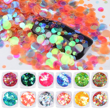 1Box Colorful Ultra-thin Round Sequins Chameleon Nail Art Glitter Decoration Shiny 3d Tips Design DIY Manicure Accessories
