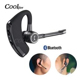 COOLJIER Business bezprzewodowe słuchawki Bluetooth samochodowy zestaw głośnomówiący Bluetooth stereofoniczny zaczep na ucho zestaw słuchawkowy z mikrofonem słuchawki douszne z redukcją hałasu w Słuchawki douszne i nauszne Bluetooth od Elektronika użytkowa na