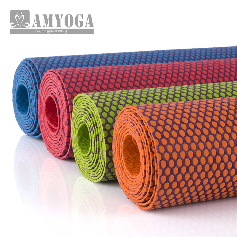 Natural Rubber Yoga Mat Anti Slip Rubber Gymnastics Mats