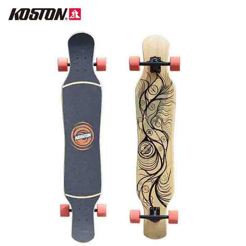 KOSTON Professional Longboard Completes Ganjiang 46 Inch Skateboard Bamboo&Canadian Maple Mixed Materials Dancing Board Walking koston longboard skateboard scooter black skate helmet