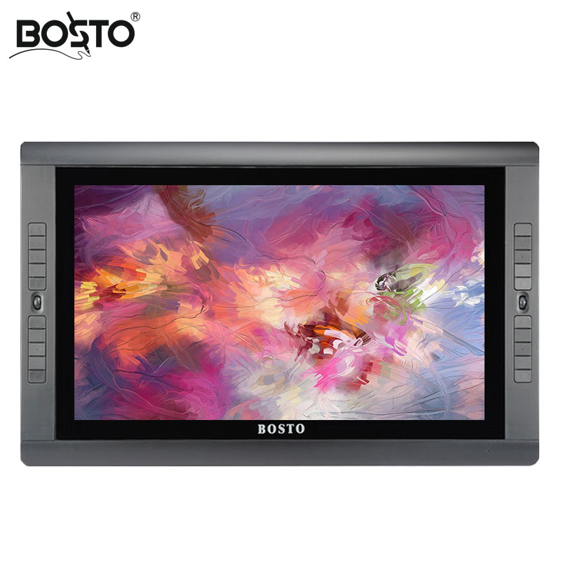 BOSTO KINGTEE 22UX,22 Full HD IPS panel with 20 pcs express key, tablet monitor, stylus,graphic monitor,interactive pen display bosto kingtee 22hdx 22 full hd ips panel with battery free pen have eraser function on pen with 20 pcs express key