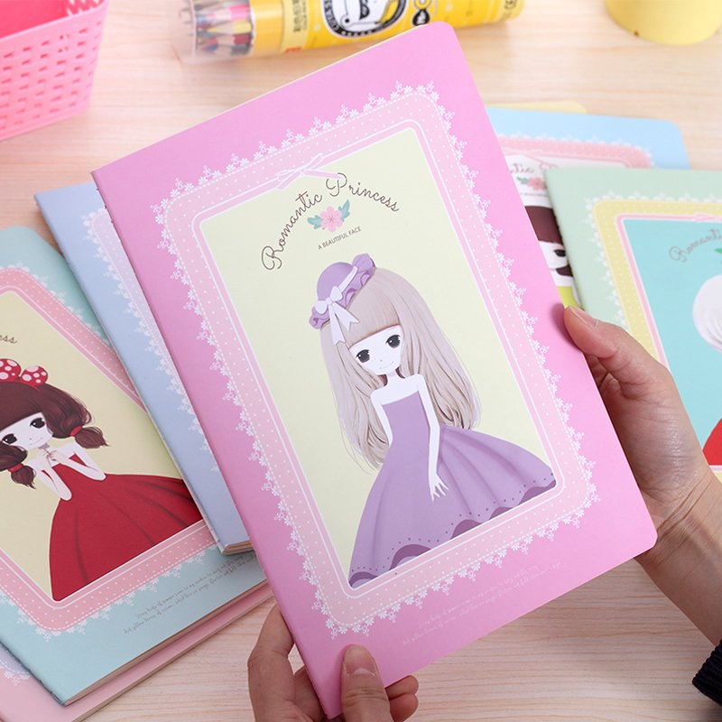 South Korea's Notebook Lovely Creative B5 Notepad Stationery Wholesale Notebook Diary Sweet Princess Class Office Supplies