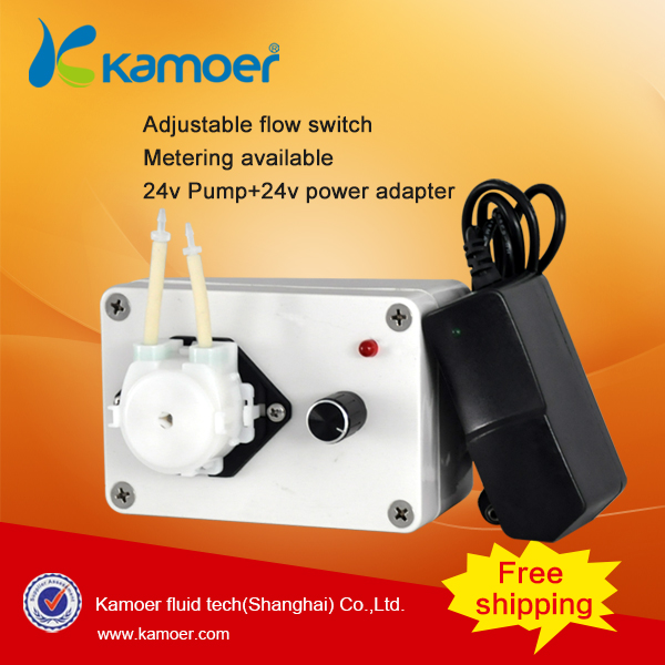 Kamoer KCP Peristaltic Pump (Manual Dosing Pump, Small Water Pump, 110V-220V, LCD Power Light) mini diy dosing pump peristaltic pump dosing head for aquarium lab analytical water pump with high flow l kamoer kds