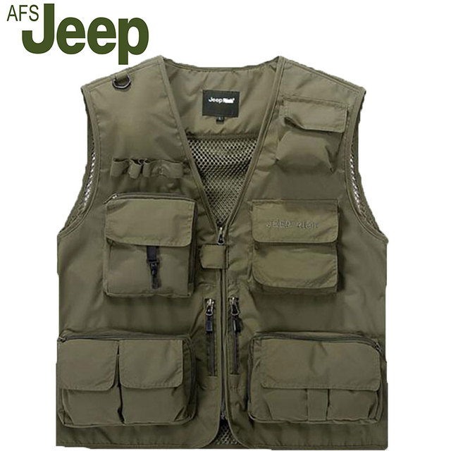 2016The new AFS Jeep  men's casual  vest  Classic Hot vest  advertising Director of photography Reporter  men's 85