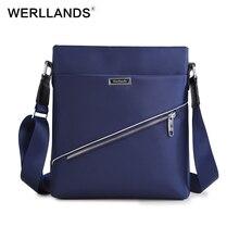 Werllands мужской черный сумка Оксфорд дизайнерские сумки повседневные Офисные Сумки для мужчин модные плечо мужские сумки посыльного