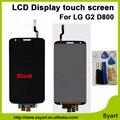 Alta calidad lcd de repuesto de pantalla táctil digitalizador asamblea lcd lcd para lg g2 d800 con kit de herramientas gratis