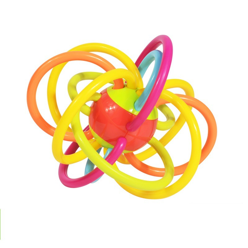 Baby Bell Ball Toy Rattles Develop Baby Intelligence Baby Toys 0-12 Months Plastic Hand Bell Rattle WJ484