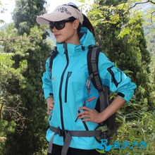 Outdoor jacket female 3-in-1  hiking clothing thickening fleece liner windproof thermal twinset  =YcfW5
