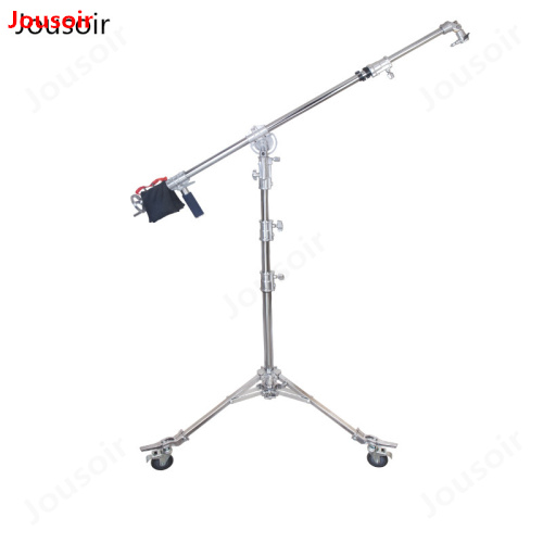 Heavy hand swing head oblique arm light stand film crew with rollers overhead lighting frame CD15|Light Stand| |  - title=