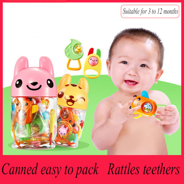 Educational Baby Toys Music Handbell Kids Teether Rattles ...