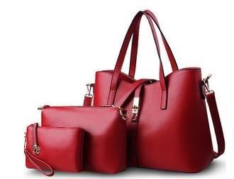 1 Sets = 3 PCS Leather Women Shoulder Bag Handbag Lady Messenger Bag Tote Top-handle Female Purse sac a main AMB438